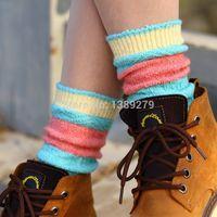 best wool socks - Retail best seller new fashion women s causal autumn winter wool rabbit patchwork socks sexy boot socks loose socks ztw147
