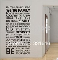 cheap pvc word quote lettering wall stickers vinyl art home decors art wall mural decals decoration