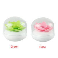 Wholesale Delicate Lotus Flower Cotton Bud Holder Toothpick Case Cotton Swab Box Vase Decoration Hot Selling