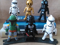 Wholesale Star War Cartoon Model Toys inch Anime Dolls Action Figure Baby Gift Collection Doll FreeDHL set E127L