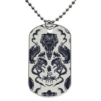 L52mm*w30mm alien pets - Alien Xenomorph Pattern Phone Case Customized Colorful Design Dog Tag Necklace Aluminum Tag for Animal Pets Tag