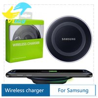 Wholesale 2015 Universal Qi Wireless Charger Charging For Samsung Note Galaxy S6 and Edge mobile pad with retail package with logo