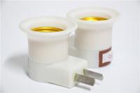 Wholesale Hotsell Safe E27 AU US Plug Adapter Converter LED Light Bulb Lamp Holder Socket On Button Lamp Base