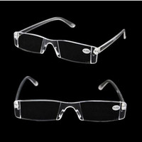 Wholesale 40pcs high quality White Resin Reading Glasses Clear Rimless Eyeglasses Presbyopia Resin conjoined glasses Diopter