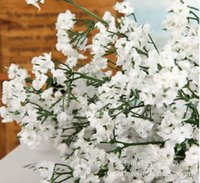 Wedding silk wedding flowers - Factory outlets Gypsophila Baby s Breath Artificial flower Fake Silk Flowers Plant Home Wedding Decoration buds for Branch