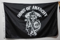 Wholesale MC Flag Sons of anarchy hot sell goods X5FT x150cm Banner brass metal holes