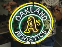 athletics shop - Business Custom NEON SIGN board For Baseball Oakland Athletics REAL GLASS Tube BEER BAR PUB Club Shop Light Signs quot