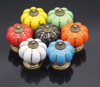 Wholesale 4 cm Kitchen Cabinets Knobs Bedroom Cupboard Drawers Colors Ceramic Door Pull Handles With Screws