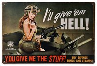 army pubs - New Arrival Army Girl Metal Vintage Tin Sign Bar pub home Wall Decor Retro Metal Art Poster mix order CM
