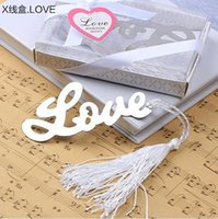 baby shower words - 100PCS Wedding Favors Event Gift Party Supplies Baby Shower Gifts quot Words of Love quot Bookmarks With White Silk Tassel