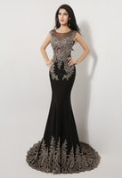 Wholesale 2015 Sexy Mermaid Pageant Dresses Sheer Black Beading Applique Cap Sleeve Sweep Train Evening Gowns Formal Beauty Queen Party Dress In Stock