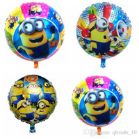Wholesale Despicable ME Foil Balloons Cartoon Minions Aluminium Coating Balloons Minions Balloon Kids party balloon DDA2879