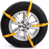 Wholesale 5pc car snow belt Yellow black TPU rubber tyre chain Quality nonskid New Muddy uphill sand bus tire antiskid tool