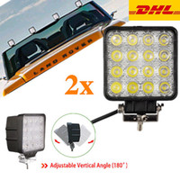 Wholesale 2X W Spot Square Waterproof leds Cree LED Light Bar Driving Fog SUV WD Trucks UTE Tractor Boat Offroad V Free DHL