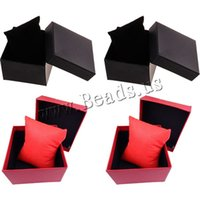 Wholesale High Quality NEW PC Classic Red Black Wrist Watch Bangle Bracelets Paper Cardboard Storage Winder Display Box Case Convenience