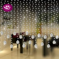 bead trim for curtains - m Top quality Nice crystal Glass beads curtain wedding trimming Curtain Diy beads curtain for home decoration