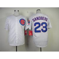 best white shirts for men - Chicago Cubs Ryne Sandberg Baseball Jerseys Sports Team Uniforms Discount Baseball Shirts Best Athletic Jerseys Sports Shirts for Men