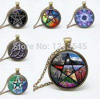 balance domes - Colorful seasons balance Glass pendant necklace vintage bronze choker Gothic art Photo Glass Dome jewelry Necklaces for women