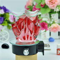 electric burner - Zhongshan Manufacture electric glass fragrance lamp glass wall oil lamp aroma burner with a dish MB0001