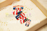 acrylic nail tips uk - set D UK amp USA flag acrylic nail art false fake nail tips stickers bridal nail accessories back glue style
