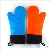 bakeware accessories - Silicone Microwave oven Mitts Thicking Insulation Cotton Kitchen Cooking Baking Gloves Heat resistant Bakeware Mitts Kitchen Accessories