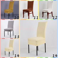 Wholesale 50pcs CCA3327 Solid Color Office Chair Cover Wedding Decoration Polyester Spandex Dining Chair Cover Wedding Party Washable Chair Cover
