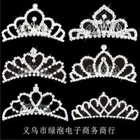 hair ball - 2015 Crowns Tiaras Accesories Wedding Pearl Hair Piece Bridal Forehead Jewelry Rhinestone Hair Claw Headpieces For Brides