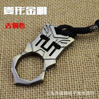 Wholesale 2016 Brand New Transformers Survival Keychain single finger Charm Pendant EDC tools fist knuckles belt buckle