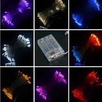 Wholesale Hot XAA Battery m LED string MINI FAIRY LIGHTS BATTERY power OPERATED White Warm white Blue Red Yellow Green Pink Purply multi color
