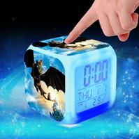 Nueva Navidad regalos Anime como tren tu dragón brillante colorido cambio reloj despertador Digital luz nocturna para niños cumpleaños