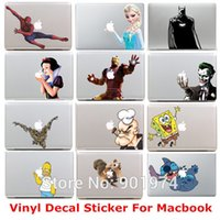 Wholesale mix order DHL Stitch Simpson Homer Vinyl Decal Protective Laptop Sticker For MacBook air pro Humor skin Art protector