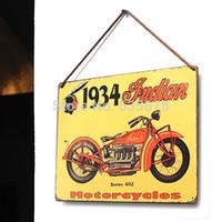 Wholesale Decor Pub Bar Tavern Garage Tin Sheet Metal Sign Indian Vintage Picture order lt no track
