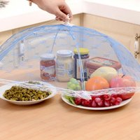 Wholesale New Food Covers Umbrella Style Anti Fly Mosquito Kitchen cooking Tools meal cover Hexagon gauze table mesh Breathable food cover