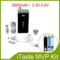 Electronic Cigarette Set Series  iTaste MVP 2.0 Kits Variable Voltage Big Vapor 2600mah 3.3V-5.0V Battery iclear 30 atomizer for iPhone Mp3 510 Thread atomizer 211009