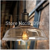 clothing store - American Industrial Vintage Pendant Light The cafe Creative Glass Droplight Bar Lighting Clothing Store Lamps Diameter cm