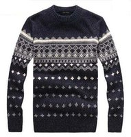 Wholesale High quality colors brand new men s long sleeve crew neck sweater with jacquard wool