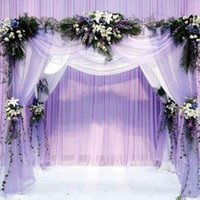 arched door mirror - 2016 Silk Flower Heart shaped Arches Wedding Decoration Organza fabric Sheer Crystal Organza Fabric Flower Door M ZHD048