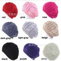 Wholesale Spring Winter Hats For Women Bone Touca Warm Twist Knitted Hat Fashion Beanies Women Winter Cap