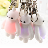 Cheap Wholesale 6 Big Hero Key Chains Plastic Cement Baymax Key Rings Christmas Gifts For Kids Toys S2021