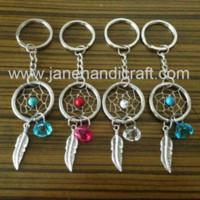 Wholesale 2014 new design mix color Stainless Steel Keychain Shipping Free Dream Catcher keychain