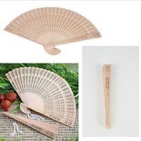 antique ship parts - Chinese Oriental Elegant Sandalwood Wooden Hollow Hand Fan Gift Part Wedding Brand New Good Quality
