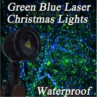 Wholesale Outdoor Holiday Light Show Projector Christmas Laser Lights Green Blue Static State Waterproof Garden House Wall Decoration