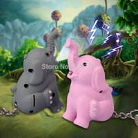 baby trinkets - by FEDEX novelty trinket LED Baby Elephant Key Chain d Animal LED Key Holder