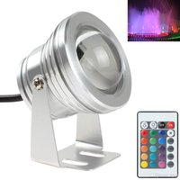 Wholesale 12V W Colors RGB LED Underwater Light LM IP68 Waterproof Swimming Pool Pond Fish Tank Aquarium LED Lamp LEG_050