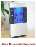 digital meter - High precision Weather forecast Indoor temperature humidity Meter Digital Thermometer Hygrometer Moisture Meter LED Backlight LCD Display