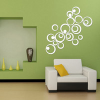 Wholesale Beautiful Wall Stickers with Rings and Circles Mirror Removable Medium Plan Removeable in Acrylic Material