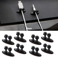 adhesive clips - 8 Multifunctional Adhesive Car Charger Line Clasp Clamp Headphone USB Cable Car Clip Interior Accessories