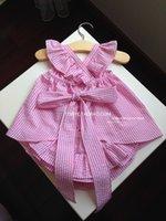 ruffle pants - 2015 NEW ARRIVAL baby girl kids piece set PRINCESS big bowknot vest shirt tops dress lace layers ruffle shorts short pants bloomers set