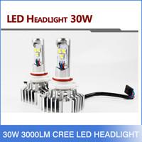 hid light - 30W LM CREE LED HI LO H4 H7 WHITE BULB DRL Fog HEADLIGHT NO NEED BALLAST RELAY
