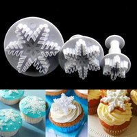 Wholesale 1Set Hotsale Snowflake Cake Mold Cookies Biscuit Plunger Cutter Mould Decorating Sugarcraft Tool